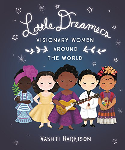 five illustrated women stand in a line under the words Little Dreamers